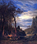 The Campfire by  Albert Bierstadt (Painting ID: LA-3405-KA)