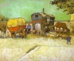 The Caravans Gypsy Camp near Arles by  Vincent Van Gogh (Painting ID: VG-0291-KA)