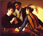 The Cardsharps by    Caravaggio (Painting ID: CM-0622-KA)