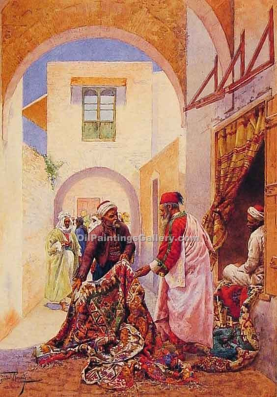 """The Carpet Sellers"" by  Giulio Rosati"