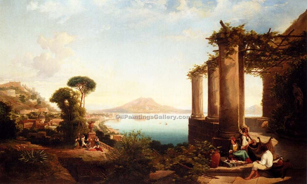 """The Castle of Ischia in the Bay of Naples"""
