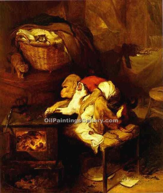 """The Cats Paw"" by  Sir Edwin Henry Landseer"