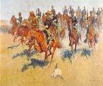 The Cavalry Charge by  Frederic Remington (Painting ID: GE-1909-KA)
