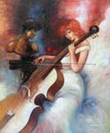 The Cellist 70  (Painting ID: EI-1770-KA)