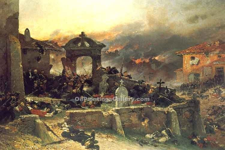 """The Cemetery at St Privat"" by  Alphonse de Neuville"
