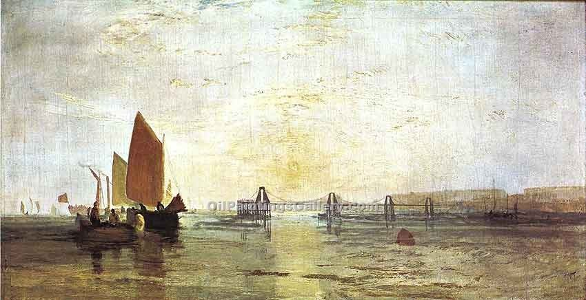 """The Chain Pier Brighton"" by  William Turner"