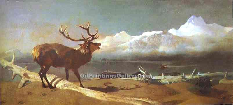 """The Challenge"" by  Sir Edwin Henry Landseer"