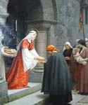 The Charity of St. Elizabeth of Hungary by  Blair Leighton Edmund (Painting ID: CL-2878-KA)