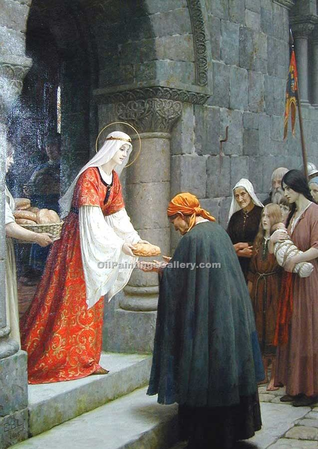 """The Charity of St. Elizabeth of Hungary"" by  Blair Leighton Edmund"