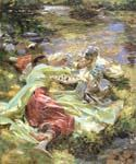 The Chess Game by  John Singer Sargent (Painting ID: EI-0440-KA)