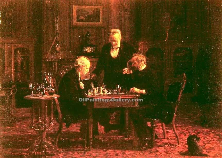 """The Chess Players"" by  Thomas Eakins"