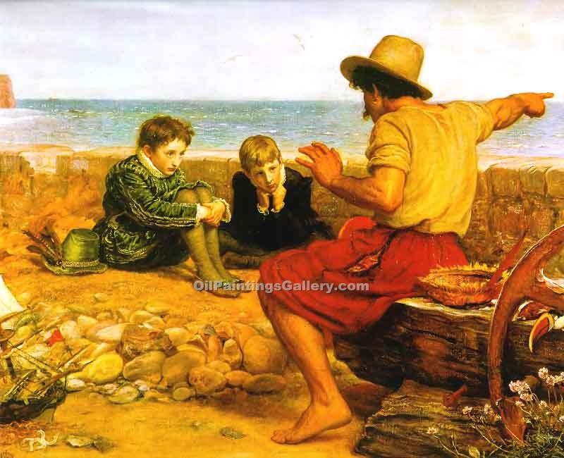 """The Childhood  of Walter Raleigh"" by  John Everett Millais"