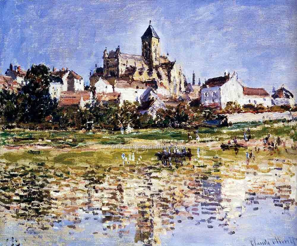 """The Church at Vetheuil"" by  Claude Monet"