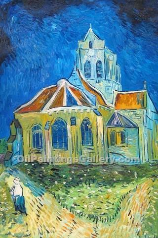 """The Church in Auvers"" by  Vincent Van Gogh"