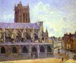 The Church of St. Jacques at Dieppe by  Camille Pissarro (Painting ID: CI-0844-KA)