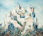 The City in White by  Dan Livni (Painting ID: AD-0335-KA)
