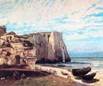 The Cliff at Etretat After the Storm by  Gustave Courbet (Painting ID: LA-1532-KA)