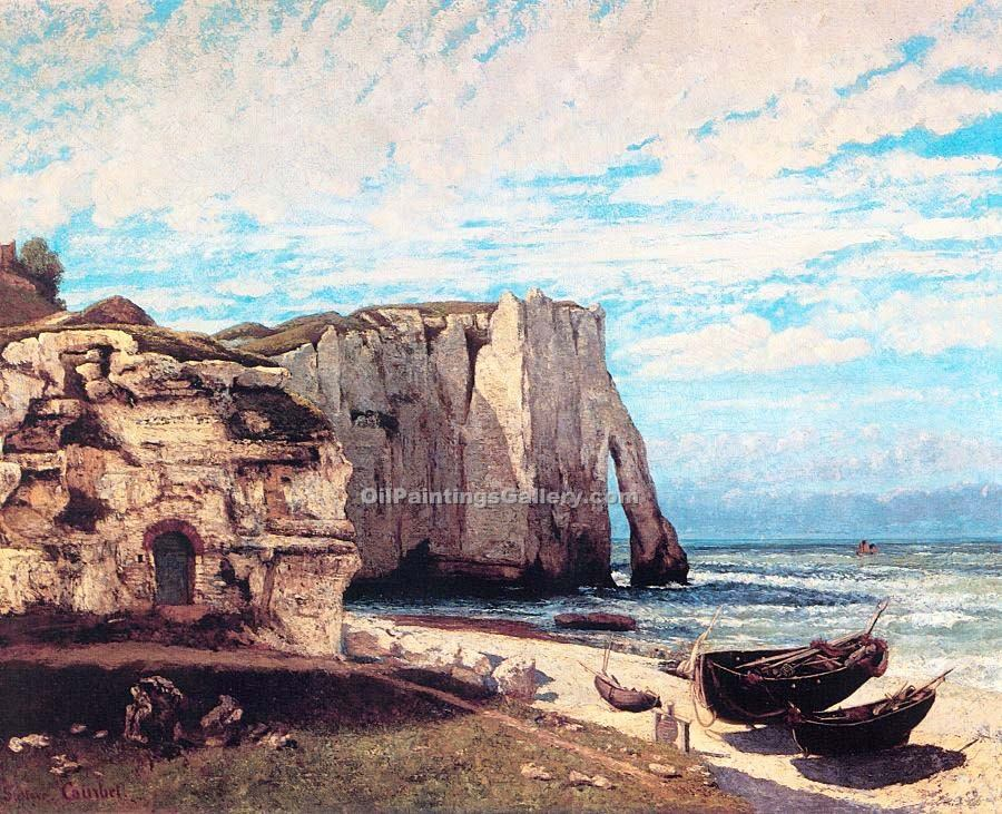 """The Cliff at Etretat After the Storm"" by  Gustave Courbet"