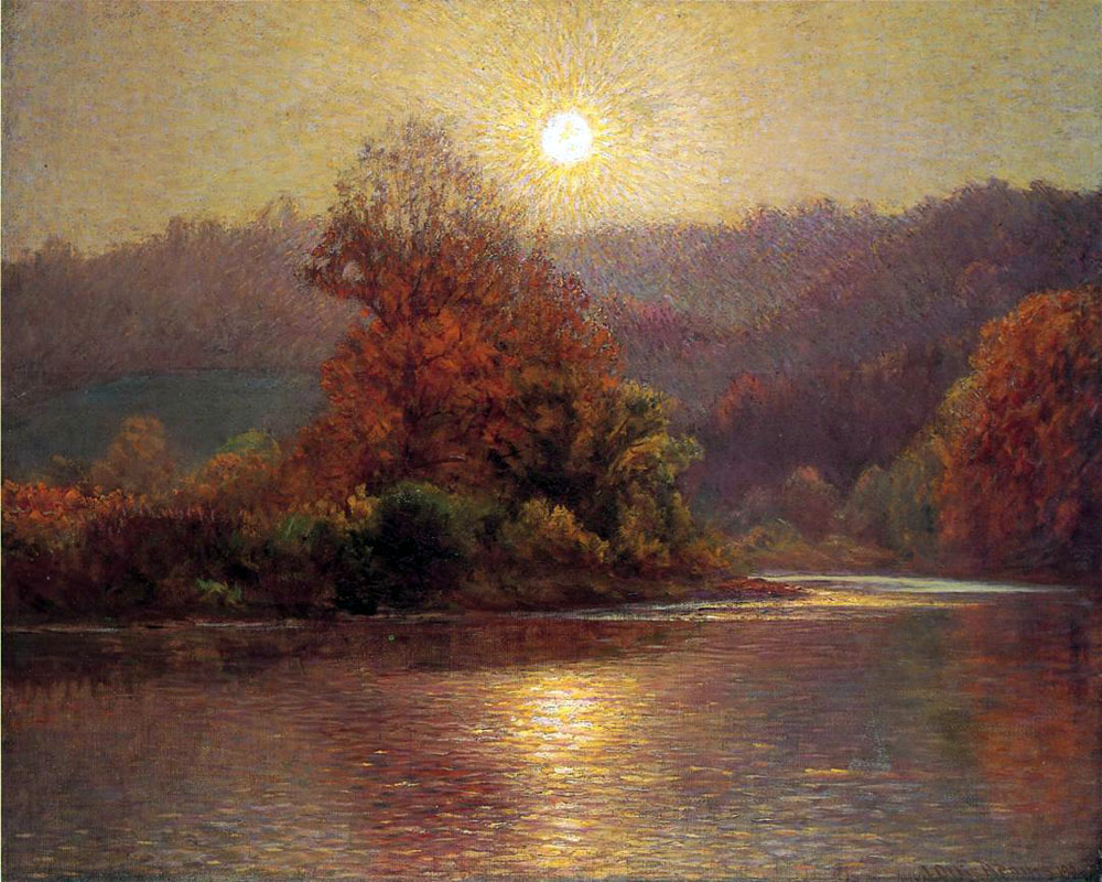 """The Closing of an Autumn Day"" by  John Ottis Adams"