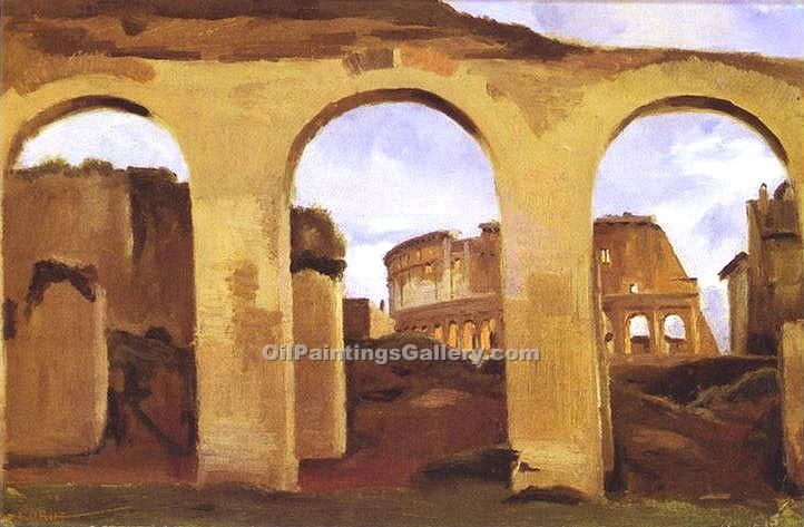 """The Colosseum"" by  Jean Baptiste Corot"