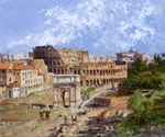 The Colosseum in Rome by  Antonietta Brandeis (Painting ID: CI-0111-KA)