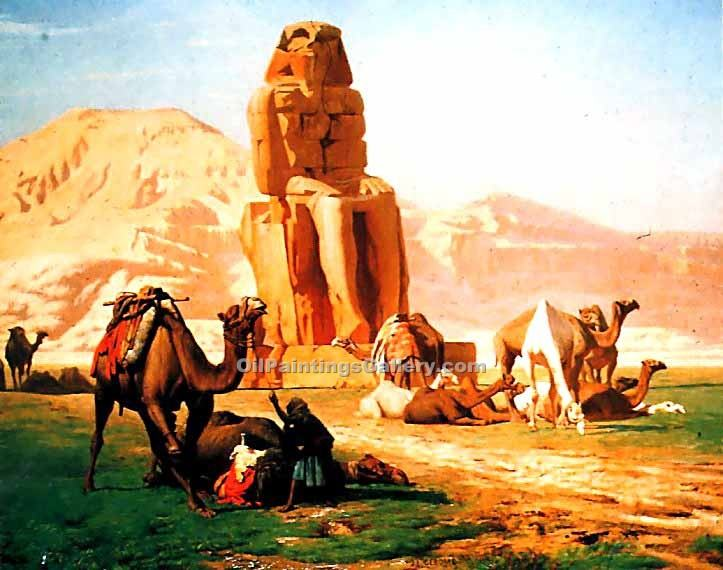 """The Colossus of Memnon"" by  Jean Leon Gerome"
