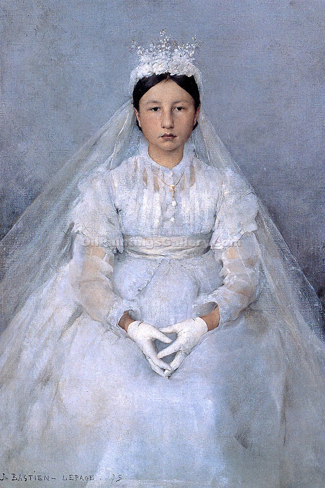 """The Communicant"" by  Jules Bastien Lepage"