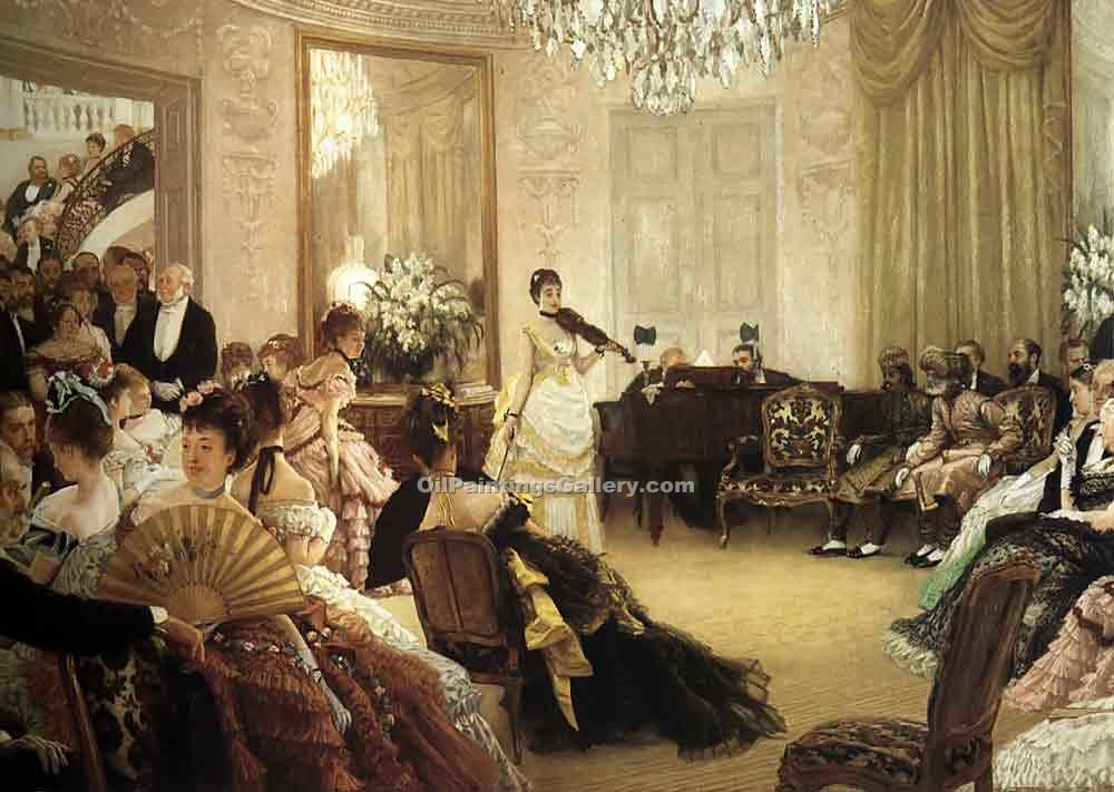 """The Concert 44"" by  James Tissot"