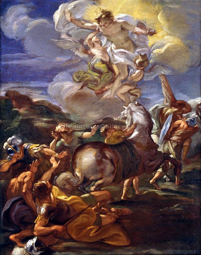 """The Conversion of Saint Paul 22"" by  Baciccio"
