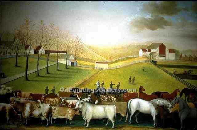 """The Cornell Farm"" by  Edward Hicks"