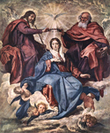 The Coronation of the Virgin by  Diego Rodriguez de Silva Velazquez (Painting ID: DA-0196-KA)