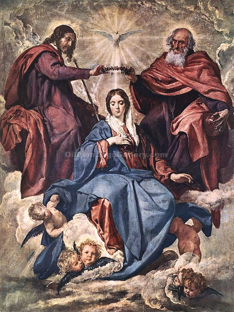 """The Coronation of the Virgin"" by  Diego Rodriguez de Silva Velazquez"