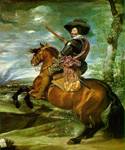 The Count Duke of Olivares on Horseback by  Diego Rodriguez de Silva Velazquez (Painting ID: DA-0198-KA)