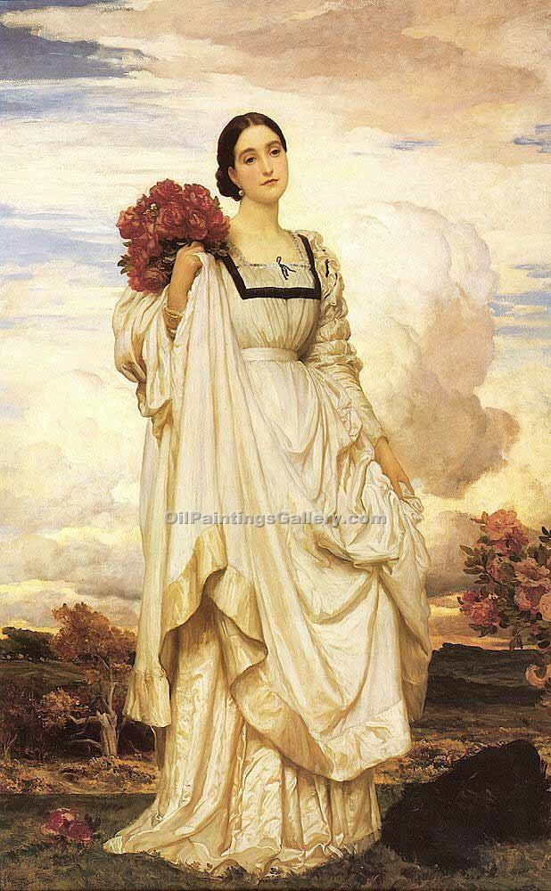 The Countess Brownlow by Leighton Frederic | Landscape Oil Paintings - Oil Paintings Gallery