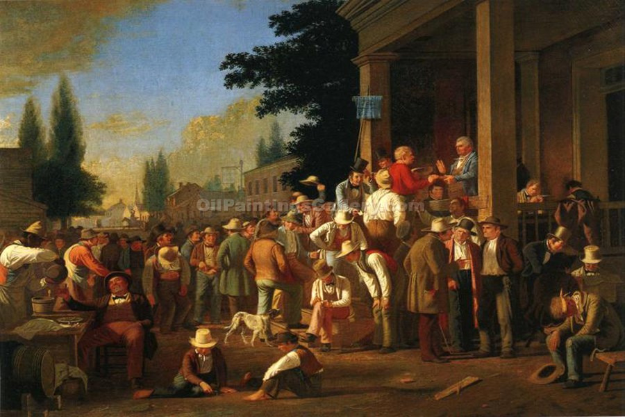 """The County Election"" by  George Caleb Bingham"