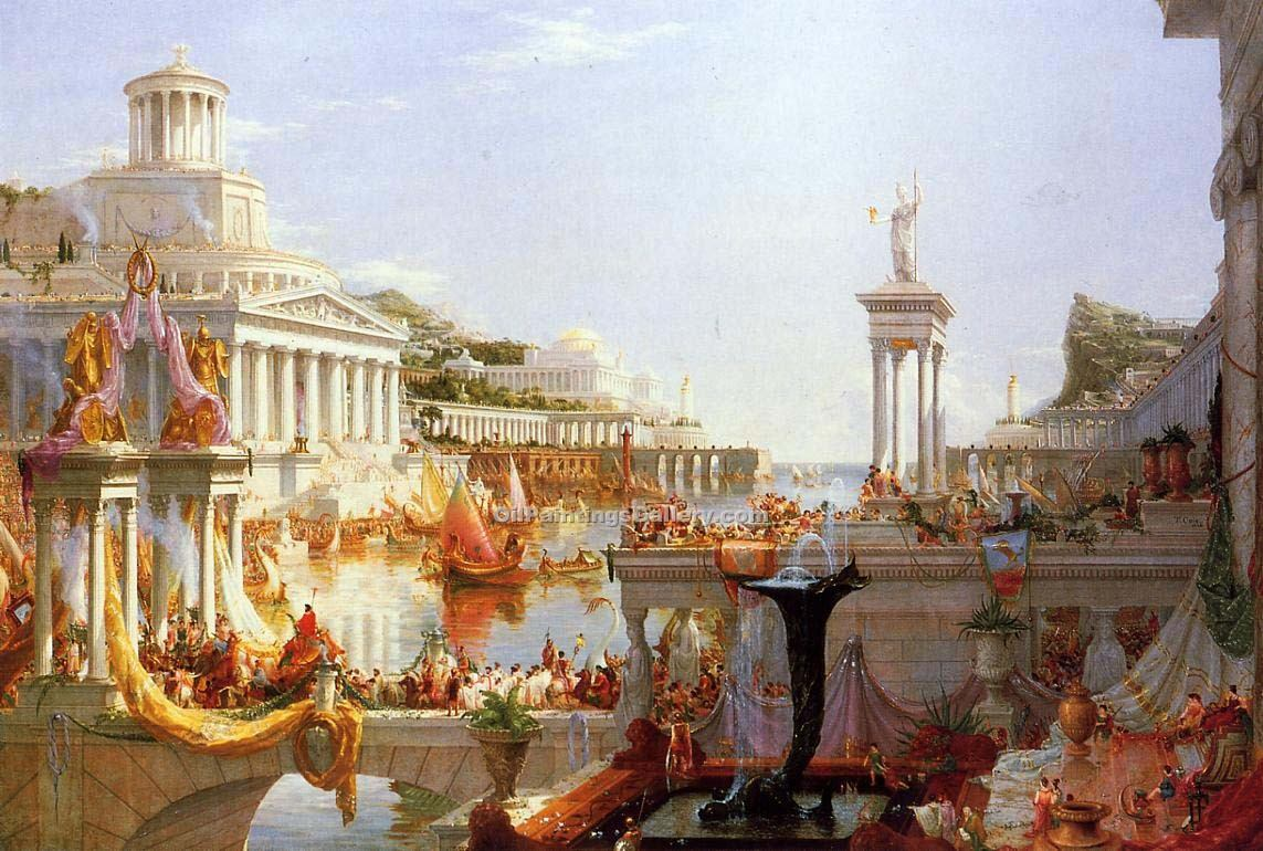 """The Course of the Empire"" by  Thomas Cole"