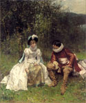 The Courtship 05 by  Adrien Moreau (Painting ID: ED-0205-KA)