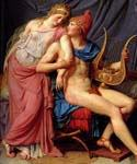The Courtship of Paris and Helen (detail) 59 by  Jacques Louis David (Painting ID: CL-4159-KA)