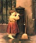 The Crossing Sweeper by  Seymour Joseph Guy (Painting ID: CL-4003-KA)