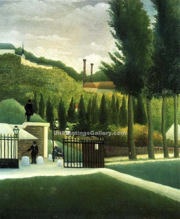 """The Customs Post"" by  Henri Rousseau"