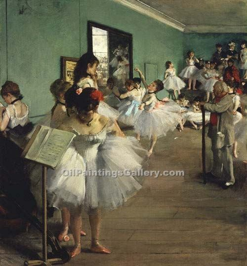 The Dance Class by EdgarDegas | Paintings On Canvas For Sale - Oil Paintings Gallery