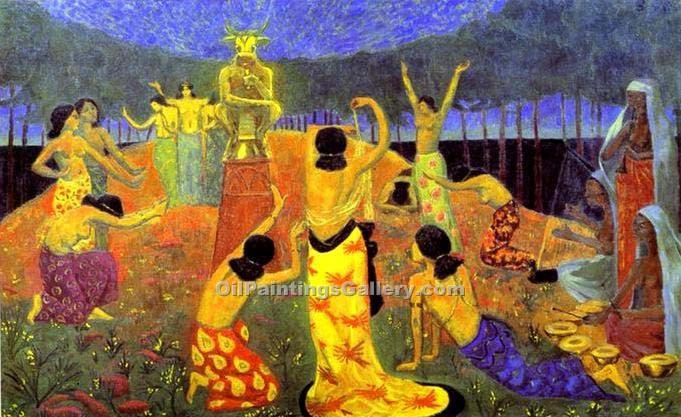 """The Daughters of Pelichtim"" by  Paul Serusier"