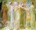 The Days by  Thomas Wilmer Dewing (Painting ID: CL-3182-KA)