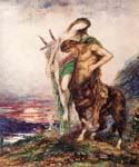 The Dead Poet Borne by a Centaur by  Gustave Moreau (Painting ID: CM-2110-KA)