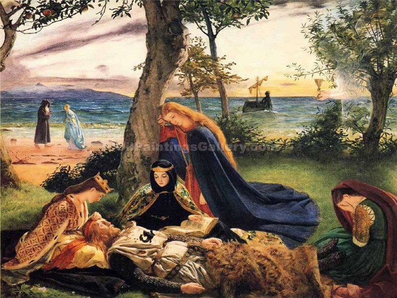 """The Death of Arthur"" by  James Archer"
