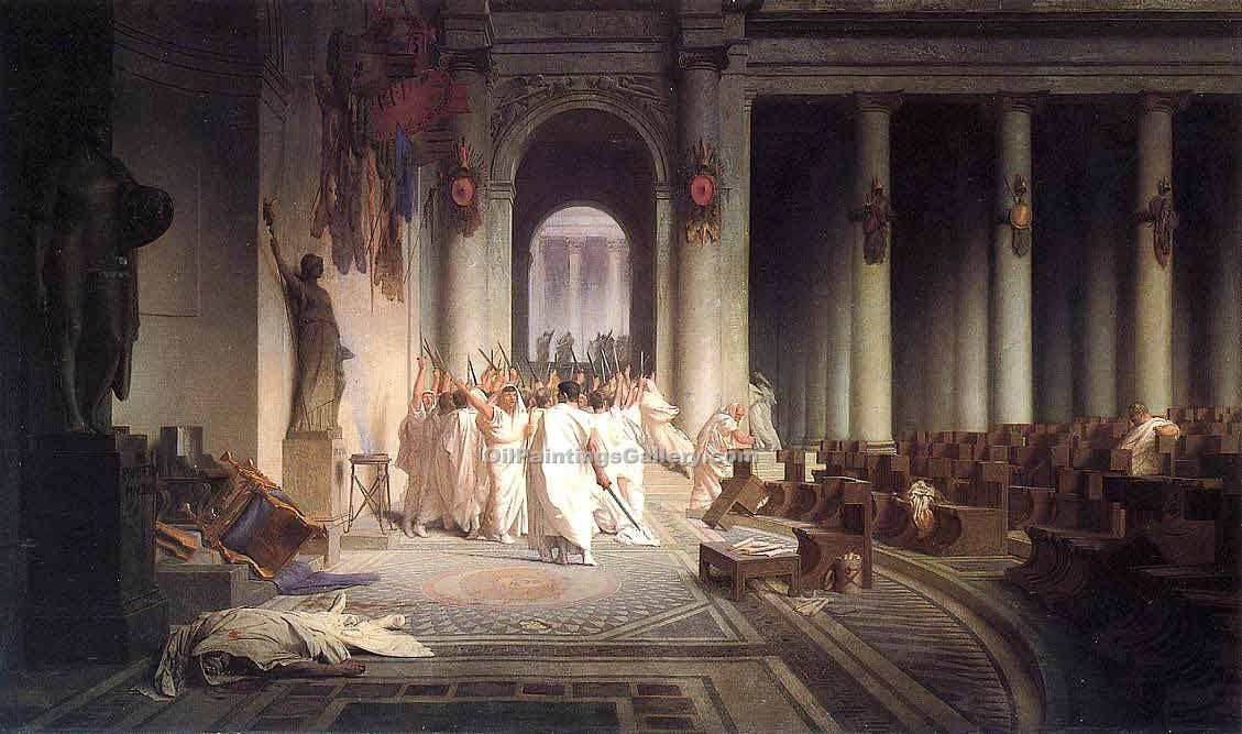 """The Death of Caesar"" by  Jean Leon Gerome"