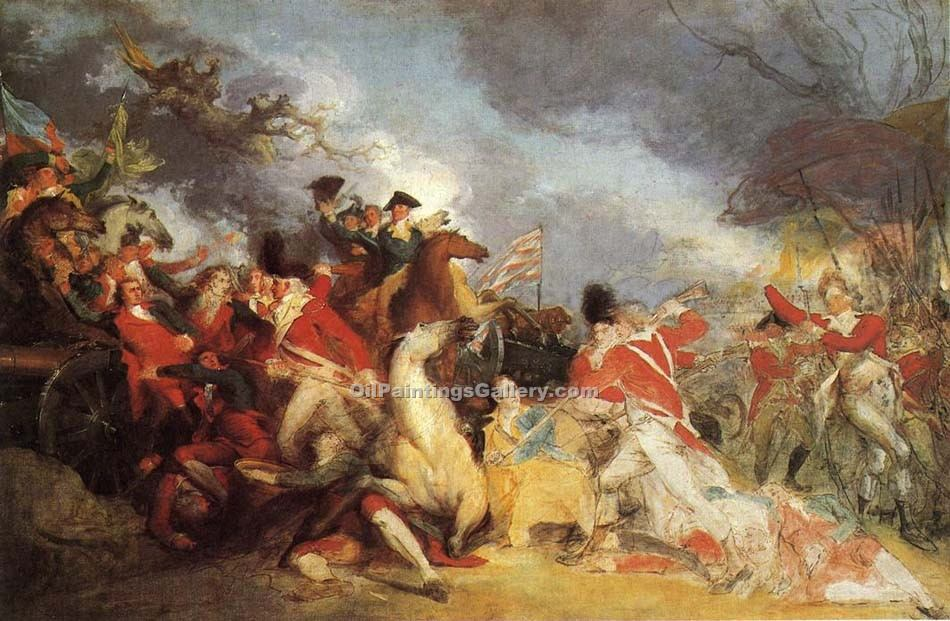 """The Death of General Mercer at the Battle"" by  John Trumbull"