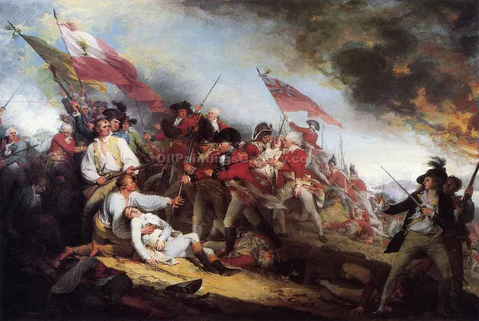 """The Death of General Warren at the Battle"" by  John Trumbull"