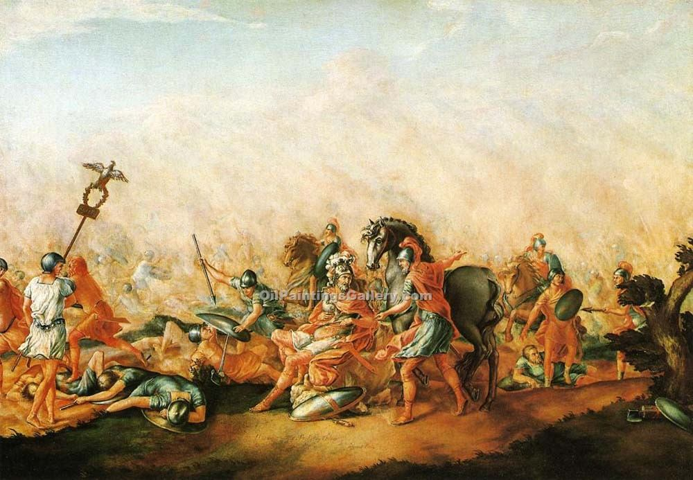 """The Death of Paulus Aemilius at the Battle of Cannae"" by  John Trumbull"