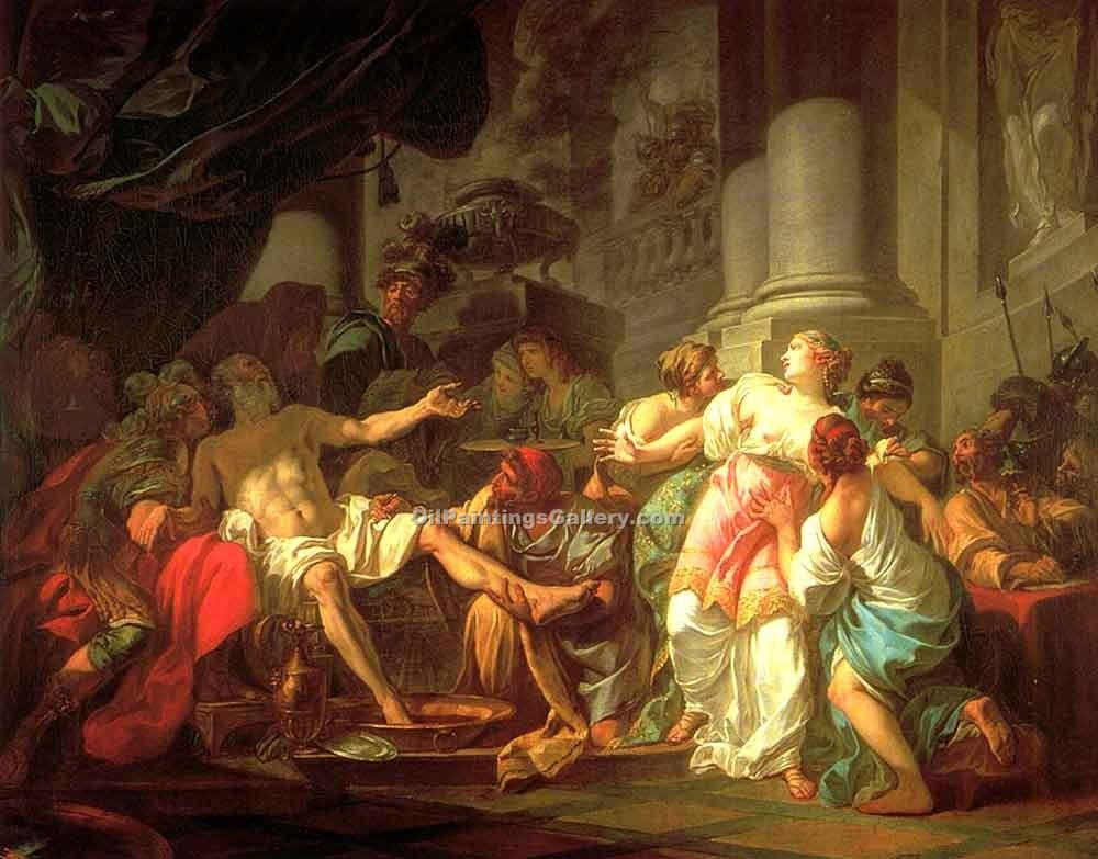 The Death of Seneca by David Jacques Louis | Painting Artists - Oil Paintings Gallery